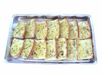 Hot buffet garlic bread