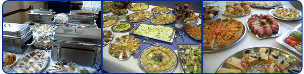 Different buffet menus for catering occasions